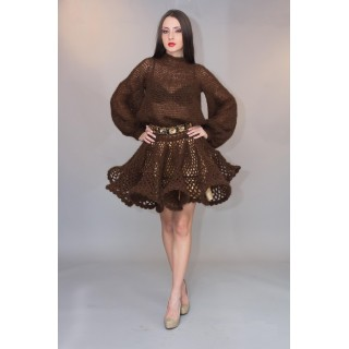 Day Dress Brown Lolita unique