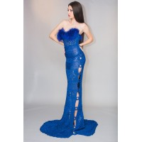 Evening Dress Imperial Blue unique