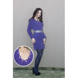 Day Dress Purple winter unique