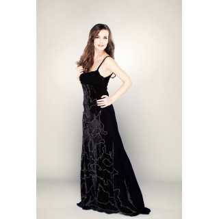Evening Dress Black Velvet unique