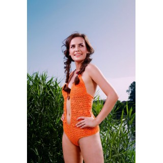 Electric orange One-Piece